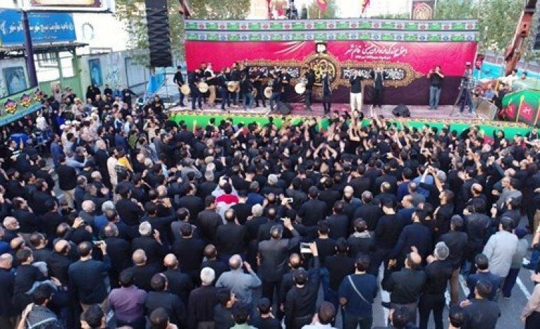 مراسم اجتماع بزرگ عزاداران حسینی در شهرستان قائمشهر با حضور ابوالشهیدین آیت الله معلمی برگزار شد + تصاویر
