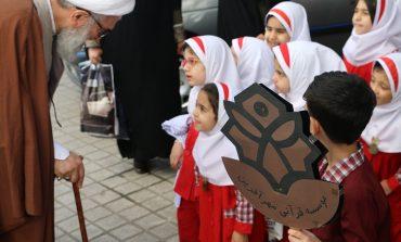 نوآموزان قرآنی با حضور در مصلی جمعه قائم شهر با این مکان مقدّس و جایگاه امامت جمعه آشنا شدند + تصاویر