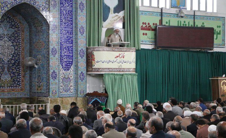 مراسم نمازجمعه ۹ آذر ۱۳۹۷ قائم شهر به روایت تصویر