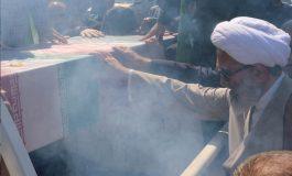 مراسم استقبال از پیکر مطهّر شهید مدافع حرم «سید جواد اسدی» ، از مصلی جمعه شهرستان قائم شهر برگزار شد + تصاویر