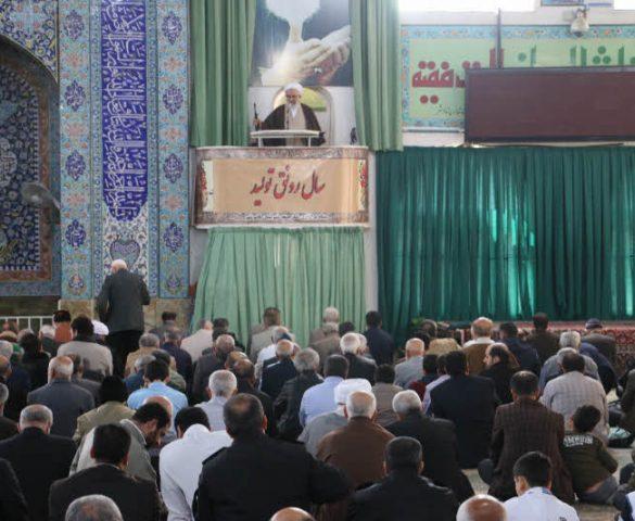 مراسم نماز جمعه دوم فروردین ماه 1398 شهرستان قائم شهر به روایت تصویر
