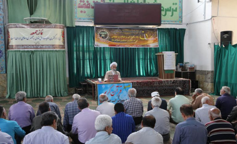 جلسه سوم تفسیر قرآن مجید در ماه مبارک رمضان توسّط آیت الله معلمی ، بعد از اقامه نمازجماعت ظهر ،  در مصلی جمعه قائم شهر برگزار شد + تصاویر