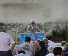 جلسه دوازدهم تفسیر قرآن مجید در ماه مبارک رمضان توسّط آیت الله معلمی ، بعد از اقامه نمازجماعت ظهر ،  در مصلی جمعه قائم شهر برگزار شد + تصاویر