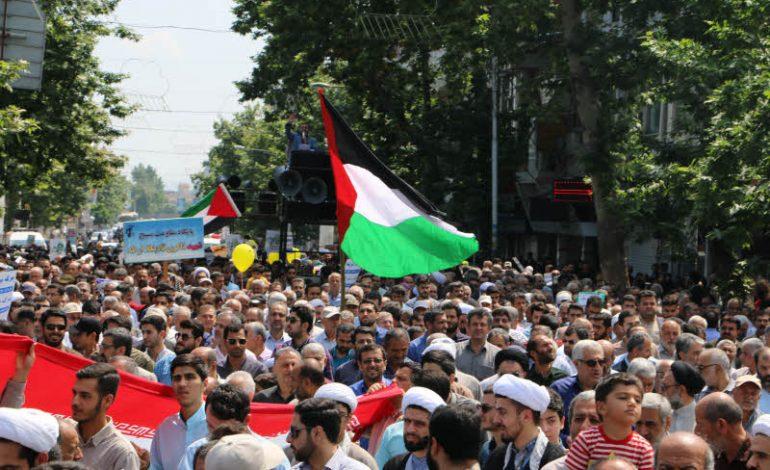 راهپیمایی روز جهانی قدس با حضور آیت الله معلمی  ، و اقشار مردم و مسئولین در شهرستان قائم شهر برگزار شد + تصاویر