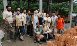 آیت الله معلمی با حضور در جمع گروه جهادی سفیران بی نشان ، از خدمات ایشان تجلیل به عمل آوردند + تصاویر