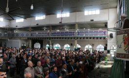 مراسم نماز جمعه 22 آذر ماه 1398 شهرستان قائم شهر به روایت تصویر