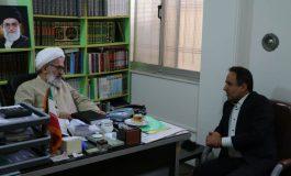حضور مدیرکل پست بانک استان مازندران در دفتر امام جمعه قائم شهر و دیدار با آیت الله معلمی + تصاویر