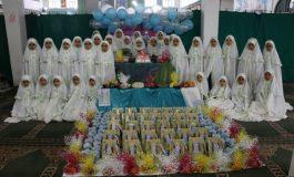 آیین جشن عبادت دبستان دخترانه قدسیه در مصلی جمعه شهرستان قائم شهر + تصاویر