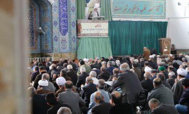 مراسم نماز جمعه 2 اسفند ماه 1398 شهرستان قائم شهر به روایت تصویر