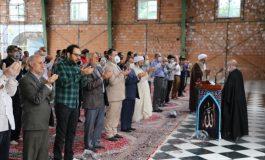 مراسم نماز عید سعید فطر شهرستان قائم شهر در محوطه مصلی جمعه شهرستان برگزار شد + تصاویر