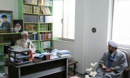 رؤسای ادارات تبلیغات اسلامی با حضور در دفتر امام جمعه قائم شهر با آیت الله معلمی دیدار کردند + تصاویر